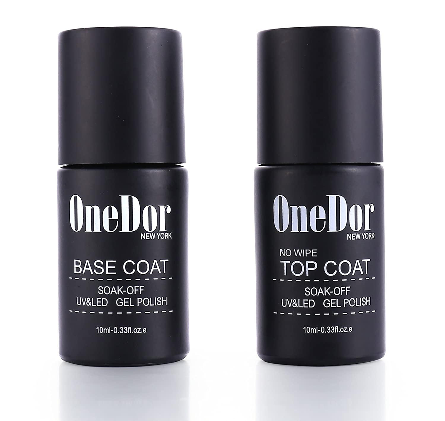 OneDor One Step Gel Polish UV Led Cured Required Soak Off No Wipe Top Coat Nail Polish (2 Pack No Wipe Top Coat) Ltd