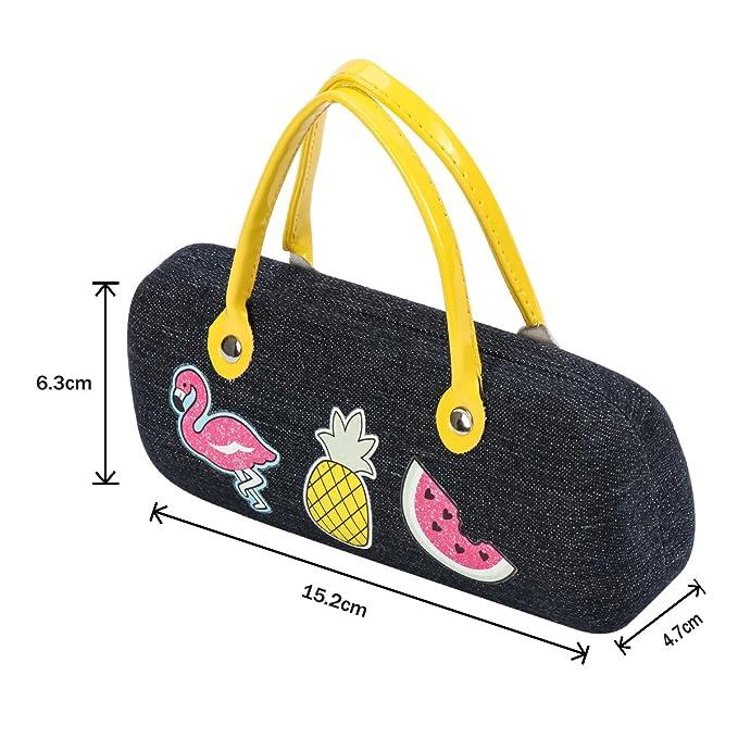 438e556108f Xidan FL1 Handbag Style Hard Eyeglasses Case and Bonus Free Soft Microfiber  Lens Cleaning Cloth  Amazon.co.uk  Clothing