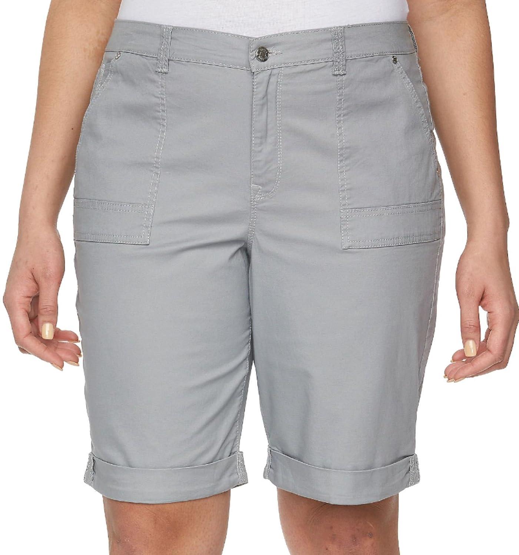 Gloria Vanderbilt Womens Roll Cuff Denim Shorts