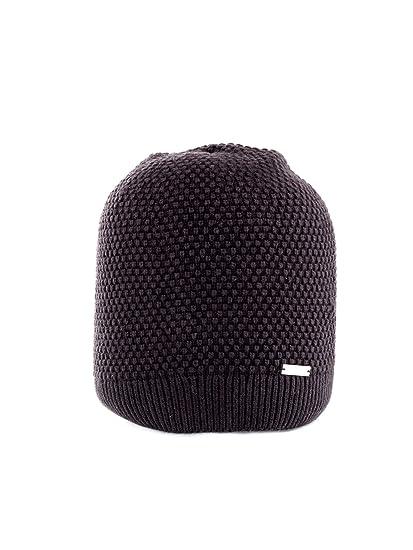 Calvin Klein Triple Knit Beanie Bonnet, Noir (Black BDS