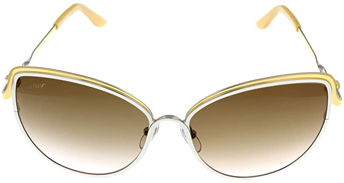 Amazon.com: Cartier Trinity de Cartier Sunglasses Cat Eye ...