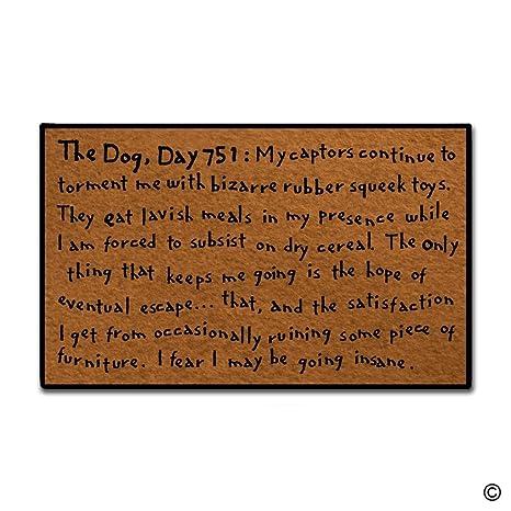 MsMr Entrance Doormat   Funny And Creative Doormat   The Dog Day 751 Door  Mat For