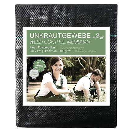 Unterbodengewebe 2,0 x 5m schwarz 100 g//m²   Vlies Unkrautfolie Pflanzenvlies