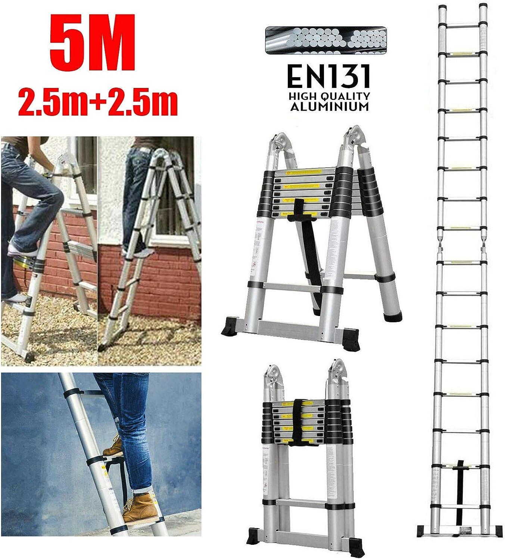 vierstufiger Treppenleiter Tritthocker Vier Stufen MLMHLMR Tragbare Klappleitern Edelstahlleitern Multifunktionsleiter aus Aluminium f/ür den Innen und Au/ßenbereich