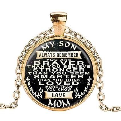 Amazon com: Letter MY SON LOVE MOM Pendant Necklace,FimKaul Fashion