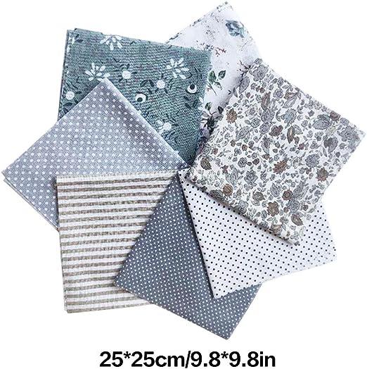 LUFA 7pcs algodón de Tela de Flores Punto Estrella DIY algodón ...