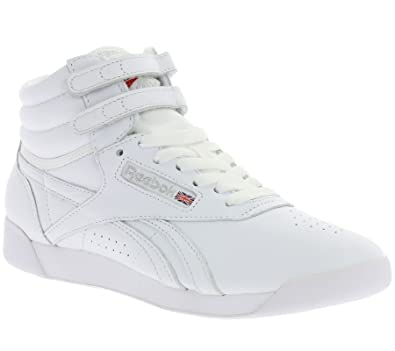 9aec2fcdf3497 Sneaker Reebok Freestyle HI White  Amazon.co.uk  Shoes   Bags