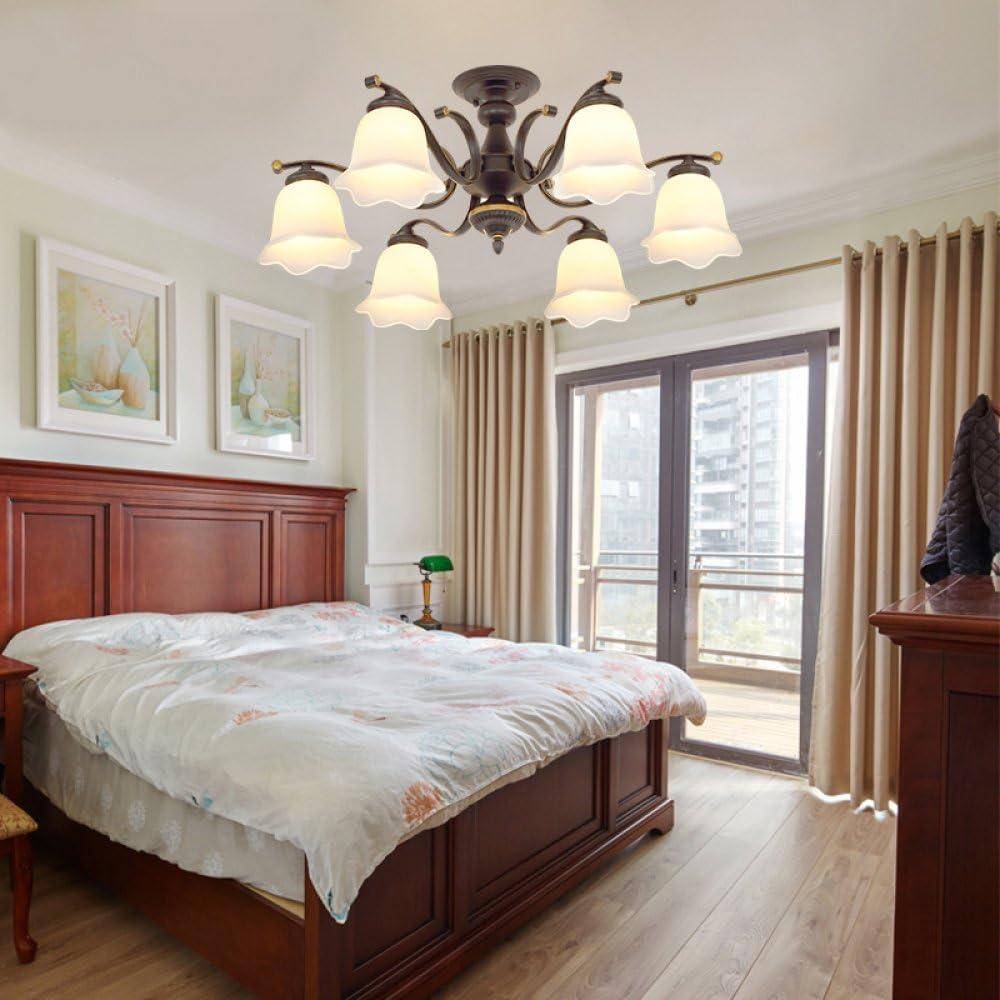 DGDH Wohnzimmer Lampe American Land Deckenleuchte LED kreative Schlafzimmer Studie Lampe Eisen Garten Restaurant Kronleuchter,Wie Zeigen,Einheitsgr/ö/ße