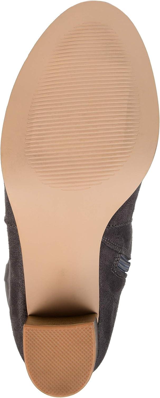 Brinley Co Comfort Womens Microsuede Mid-Calf Boot Grey 12 Wide Calf US