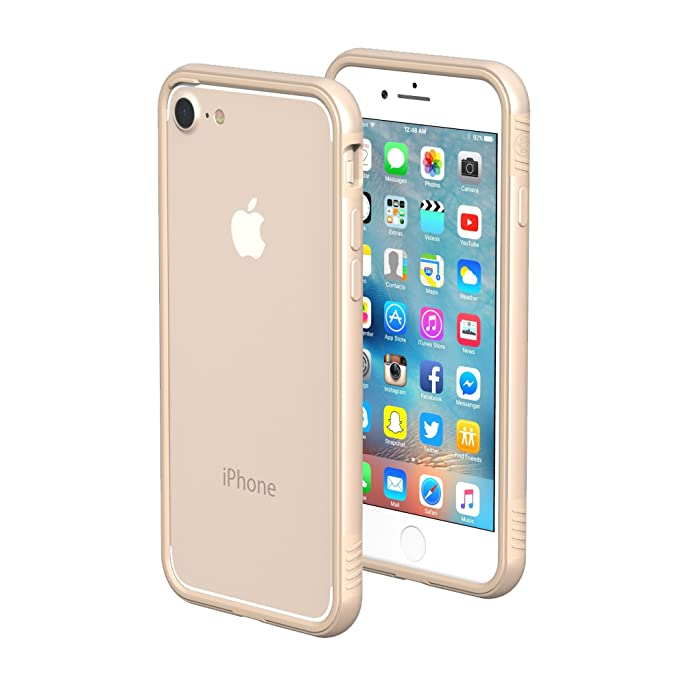 best service acb26 c719f iPhone 7/8 Case - ThanoTech K11 Bumper - Lightweight Aluminum TPU - Matches  Your Phone Seamlessly - Slim, Durable, and Shockproof Protection - Gold