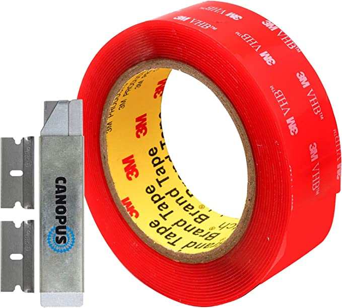 7 Width x 9 Length 1 Pack//2 Pieces 3M VHB Heavy Duty Mounting Tape 4950