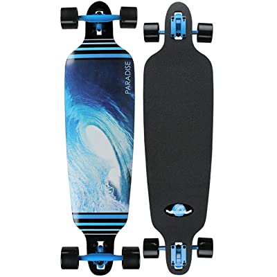 Paradise Longboard Complete Drop Thru Barrel Wave 2 9 x 40' Freestyle : Longboard Skateboards : Sports & Outdoors