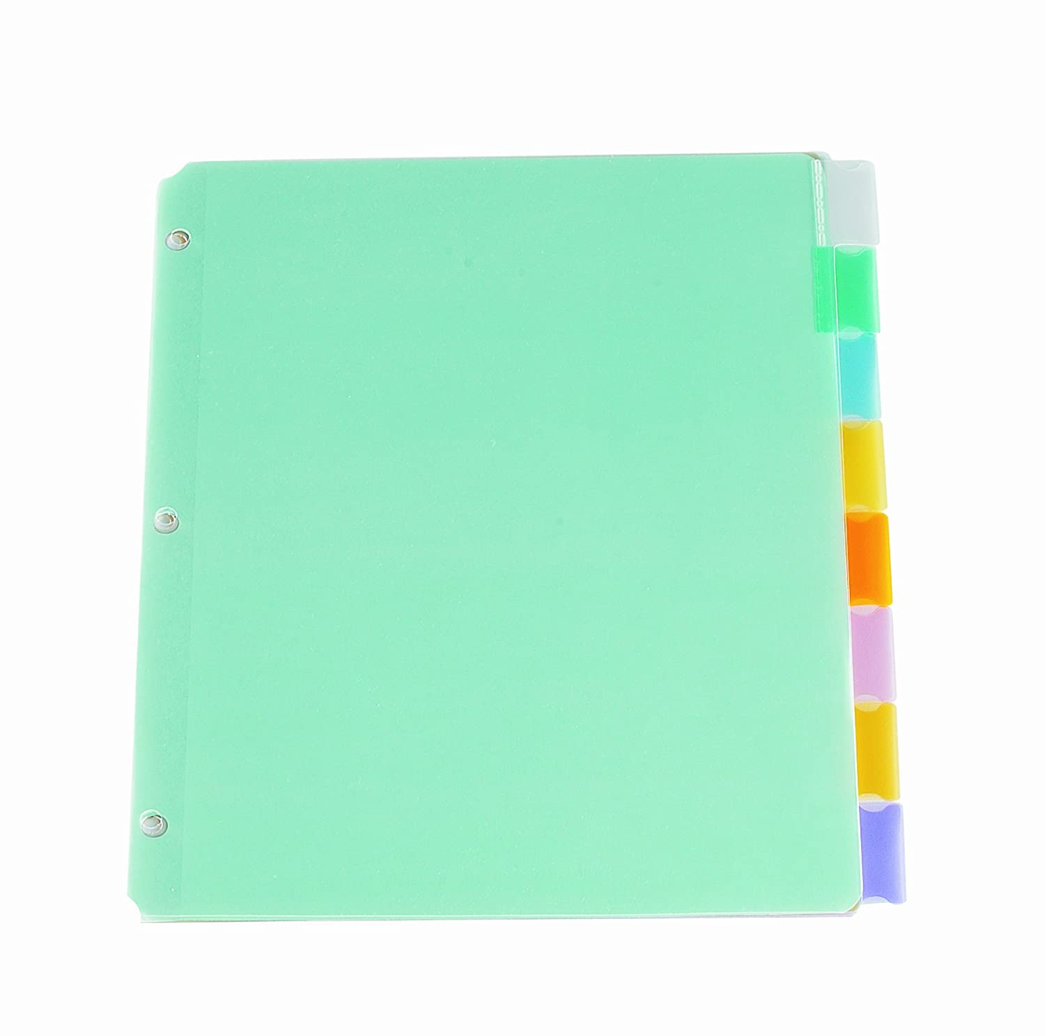 Oxford Poly Insertable Tab Dividers, 8-Tabs, Letter, Assorted PF31481