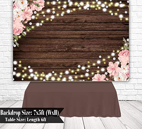 Forest Wedding Theme Backdrop 7x5ft Polyester Twilight Fabulous Bright Wooden Pavilion White Chair Chic Floral Stairs Colorful Brick Floor Background Wedding Ceremony Shoot Bridal Shower Banner