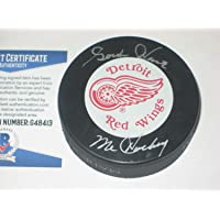 $378 » Gordie Howe Autographed Signed Detroit Red Wings Puck With Beckett COA & Mr Hockey Inscription