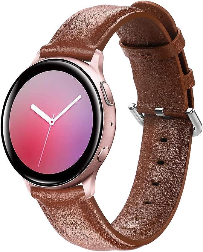 Aottom Compatible con Correa Samsung Galaxy Watch Active 2 44mm 40mm Correa Piel 20mm Reloj para Galaxy Watch 42mm/Galaxy Watch 41mm/Galaxy Watch Active/Garmin VivoActive 3/Huawei Watch GT2: Amazon.es: Electrónica