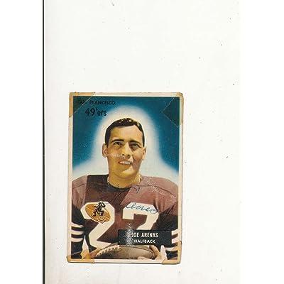 af698340b 1955 bowman vintage signed 85 Joe Arenas 49ers tape