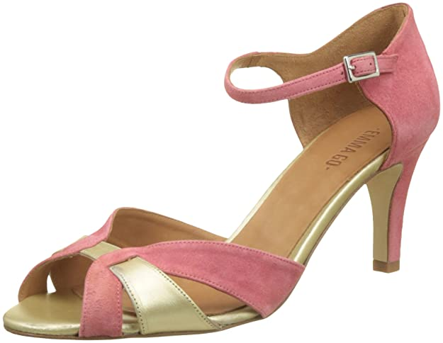 Emma Go Damen Astrid Peeptoe Sandalen Rose (Suede Rosa and Soft Gold) 37 EU