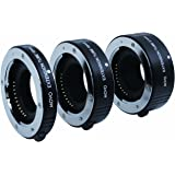 Movo Photo AF Macro Extension Tube Set for Fujifilm X-Mount Mirrorless Cameras with 10mm, 16mm & 21mm Tubes