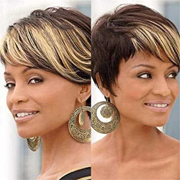 Amazon Com Awig Ombre Short Wigs 2 Tone Color Brown Roots Blonde