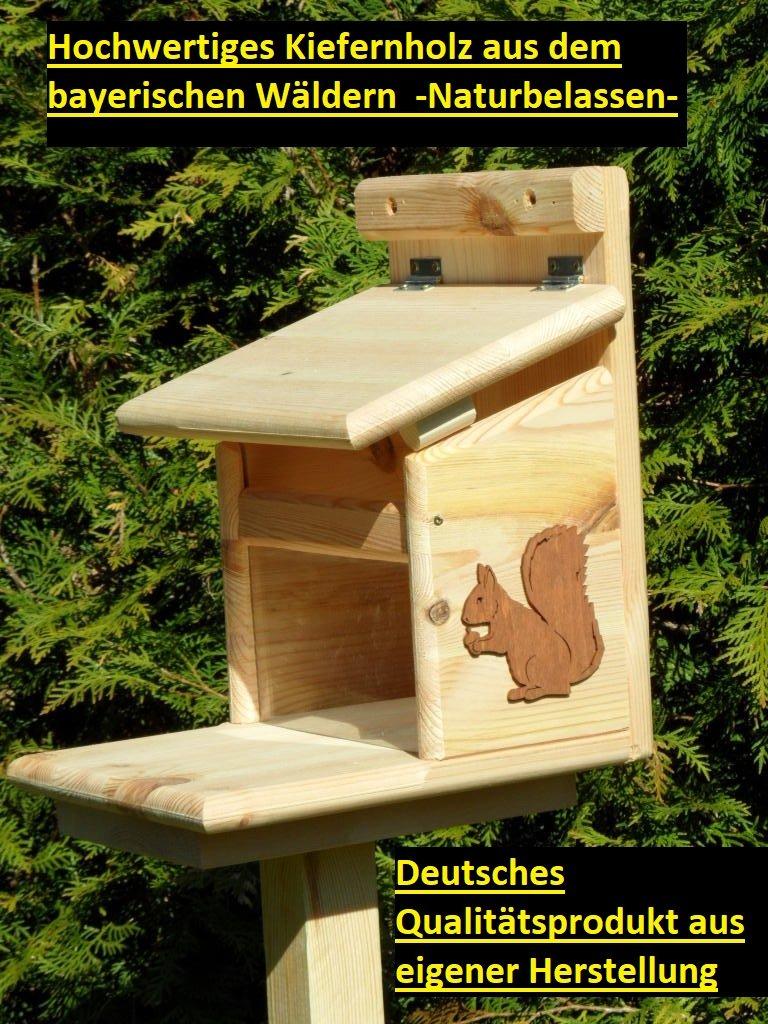 Arbrikadrex Eichhörnchenfutterhaus- Eichhörnchen-Haus Kobel Eichhörnchenfutter
