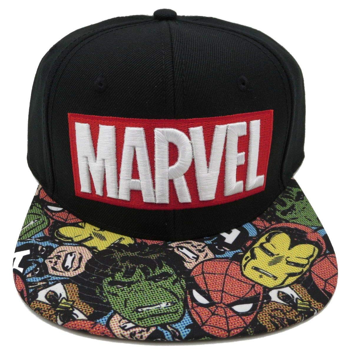 de7f79c3a4e Amazon.com  BIOWORLD Marvel Halftone Black Snapback Baseball Cap  Toys    Games