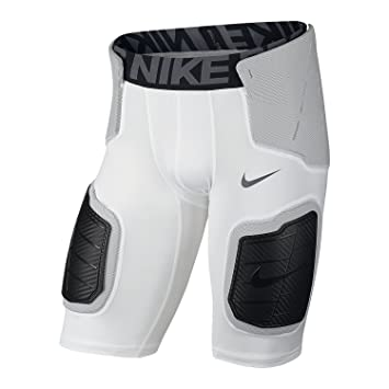 Nike Pro Hyperstrong Core 839933-100 White/Black Hardplate Mens Football  Short (size