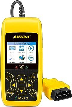 Coche Motor lector de código de error Autool CS520 escáner de código de auto, apaga la luz de motor (mil) y herramienta de análisis de diagnóstico DTC/consejos luces de advertencia: Amazon.es: Bricolaje