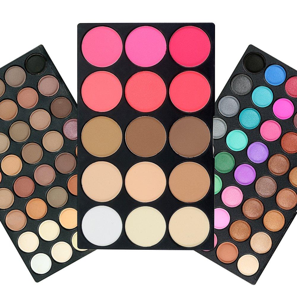 80 Colours Eyeshadow Palette, TOFAR Charming Eye Shadow Cosmetic Palette Waterproof Makeup Kit Matte Shimmer Eyeshadow Make Up Professional Box