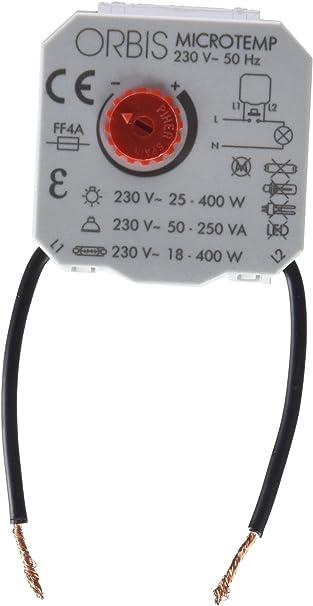 Orbis Micro Temp 230 V Interruptor con Temporizador, OB200004: Amazon.es: Bricolaje y herramientas