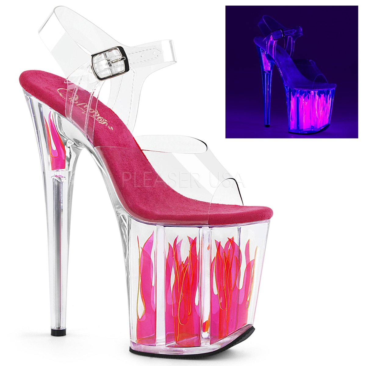 Pleaser Womens FLAMINGO-808FLM/C/C-HP Sandals B0758868WF 7 B(M) US