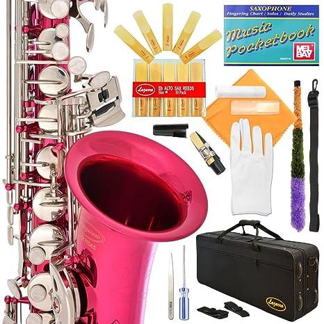 Lazarro profesional plateado o dorado llaves E-Flat EB para saxofón alto sax con varillas