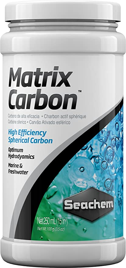 Seachem Matrix Carbón Activo para Acuarios Decorativas – Paquete de 25 x 250 ML
