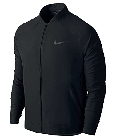 Mens Nike Tech Woven Full Zip Black Training Jacket