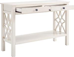 Linon Console Table, Antique White