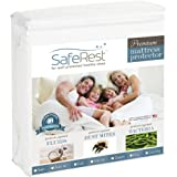 Cal King Size SafeRest Premium Hypoallergenic Waterproof Mattress Protector - Vinyl Free