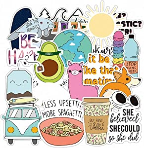 VSCO Stickers for Hydro Flask, Girls Stuff Cute Waterproof Trendy Stickers for Water Bottles, Laptops, Phones,Travel, Luggage Extra Durable 100% Vinyl(25 Pack)