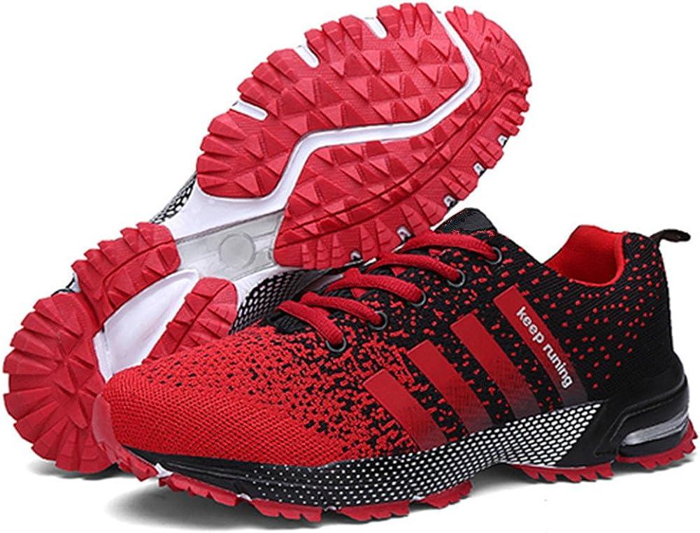 Zapatillas Deportivas para Correr y para Baloncesto Tipo Sneakers de Verano, para Caballero y señora, Negro, Rojo, Azul, Verde y Rosa Rojo Size: 44EU: Amazon.es: Zapatos y complementos