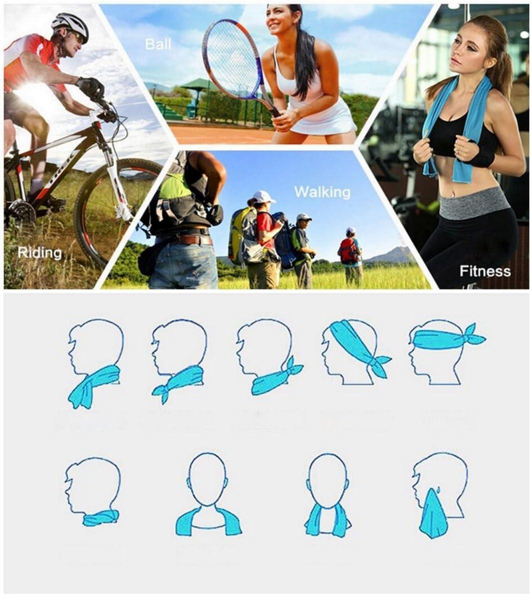 Barrageon Ultraleicht Sporthandtuch Weich K/ühl-Effekt Handt/ücher mit Flasche f/ür Fitness Studio Laufen Trekking Wandern Schnelltrocknend Saugf/ähig