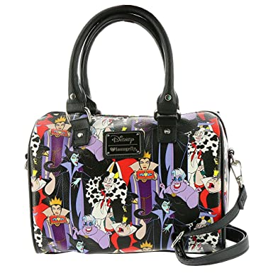 c29d797cfb Amazon.com: Loungefly Disney Villains Print Duffle Bag: Clothing