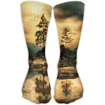 YUANSHAN Socks Nature Lake Women & Men Socks Soccer Sock Sport Tube Stockings Length 11.8Inch