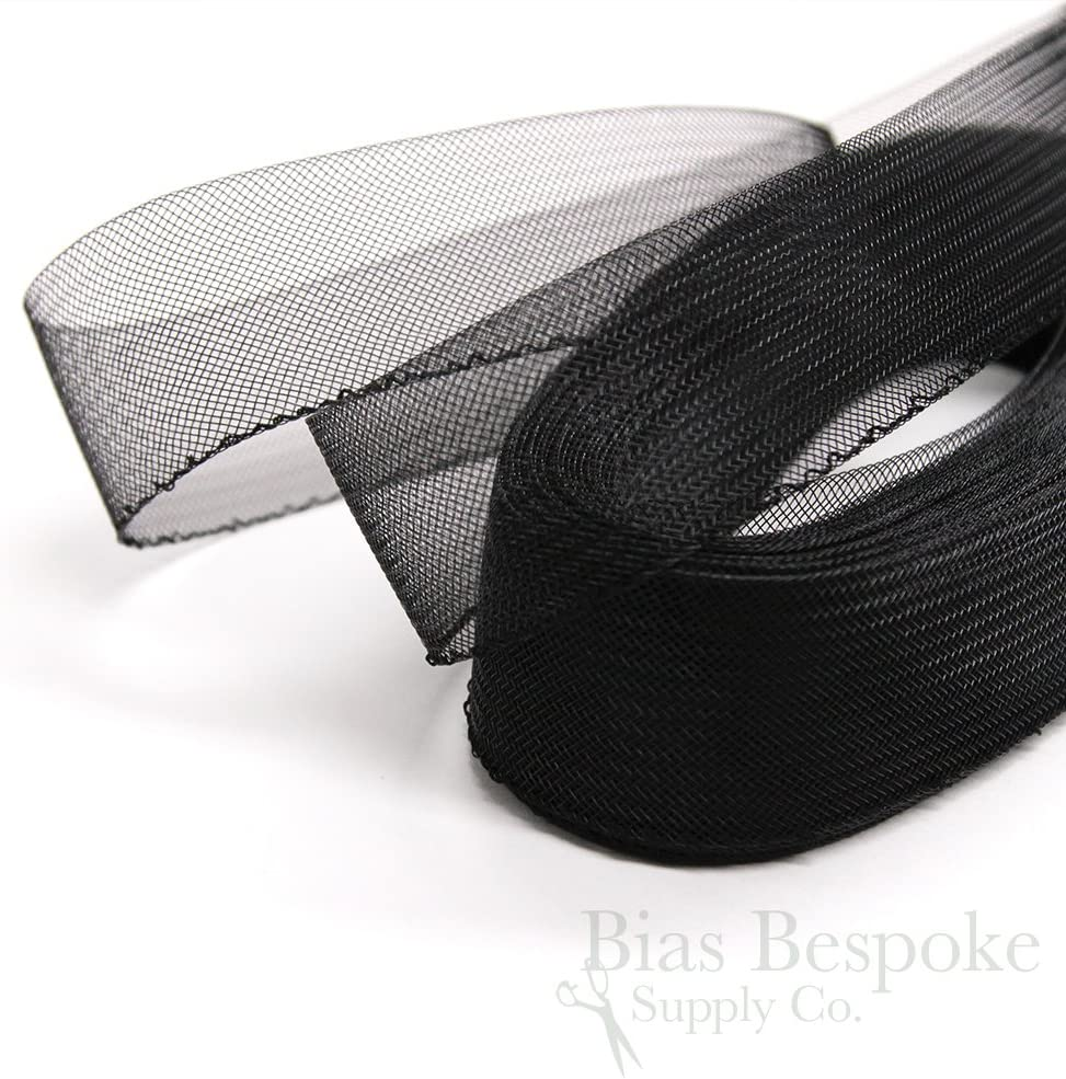 Black 25 Yards of Soft Horsehair Braid with Gathering Thread 2 Wide