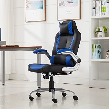 office reclining chair. Belleze High-back Ergonomic PU Leather Racing Chair Executive Office Reclining Chair, (Black