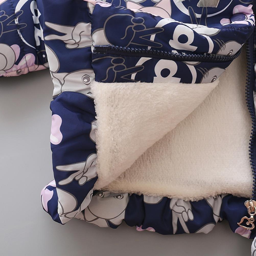 Manteau à capuche Fille Hiver Chaud Ultra Épais Doudoune Fille Longra Bébé  Vêtements d extérieur Chat ... 242ff516279