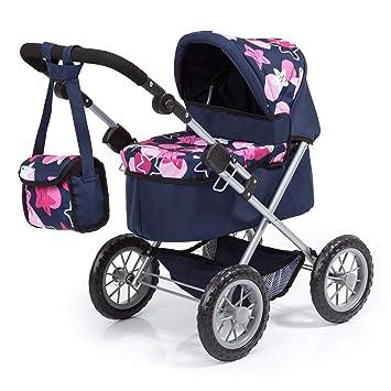 Amazon.es: Bayer Design Cochecito Trendy con Bolsa, Ajustable, Carrito de muñeca, Color Azul, Rosa con un Moderno diseño de Estrellas 13069AA: Juguetes y ...