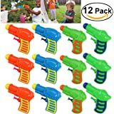 TOYMYTOY 12pcs Pistolas de agua plástico para niños juego (Color al azar)