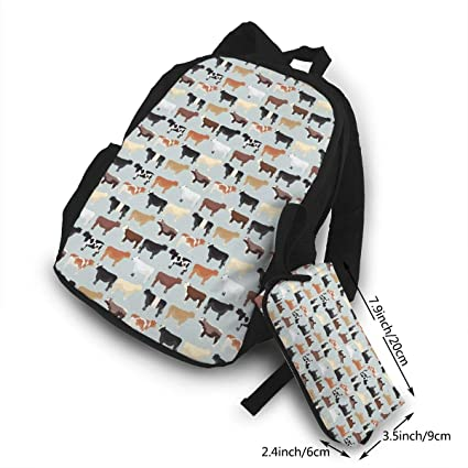 Amazon.com  Farmhouse Cows Campus Backpack Sports Camping Hiking ... 7626c44b55f52