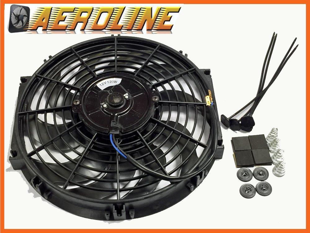 30,5 cm Aeroline 120 W 12 V ventola di raffreddamento per radiatore elettrico, attacco universale Aeroline Cooling