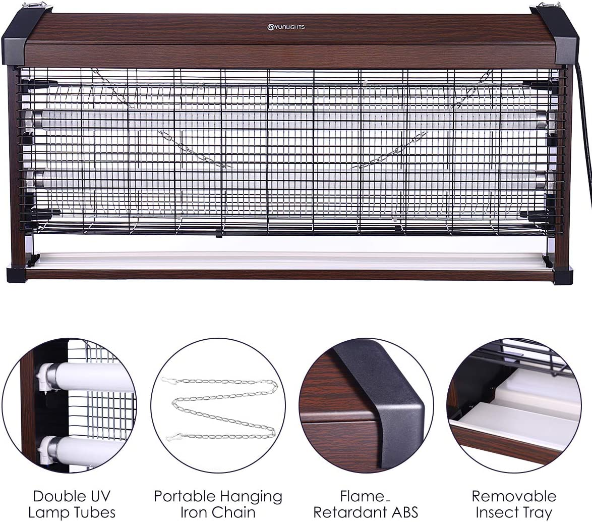 Electronic Bug Zapper, Insects Killer, Insect Killer Zapper with UV Light for Indoor Outdoor Free Standing or Wall Hanging, 40W