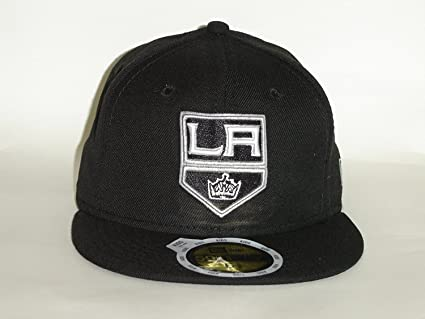 9eb94edff18 New Era 59Fifty NHL Los Angeles Kings Black JR Youth Fitted Cap NewEra  Select Youth Size